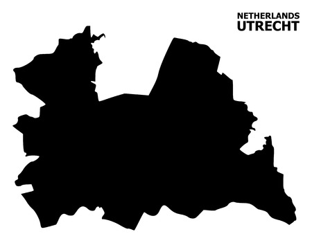 Vector Map of Utrecht Province with title. Map of Utrecht Province is isolated on a white background. Simple flat geographic map.