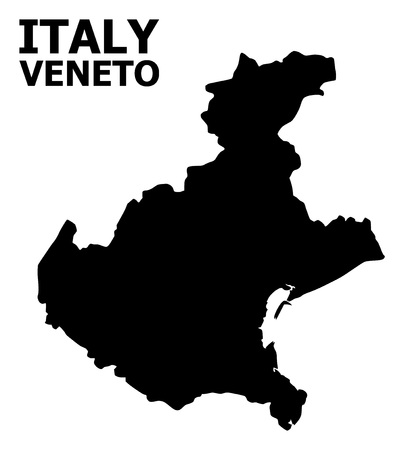 Vector Map of Veneto region with title. Map of Veneto region is isolated on a white background. Simple flat geographic map.