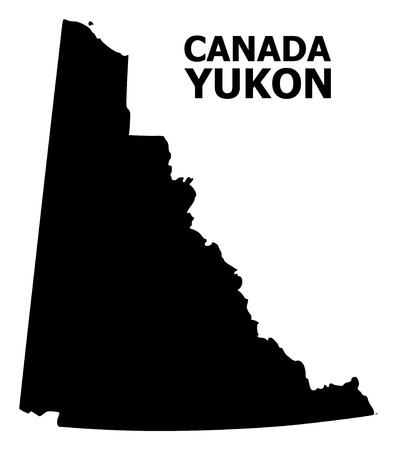 Vector Map of Yukon Province with name. Map of Yukon Province is isolated on a white background. Simple flat geographic map.