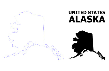Vector Contour Map Of Alaska State With Caption. Map Of Alaska ...
