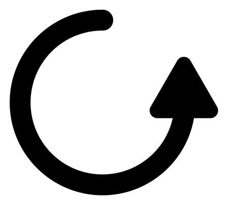 Rotate left arrow icon with flat style. Isolated raster rotate left arrow icon image on a white background.