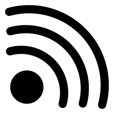 Wifi signal icon with flat style. Isolated raster wifi signal icon image on a white background.