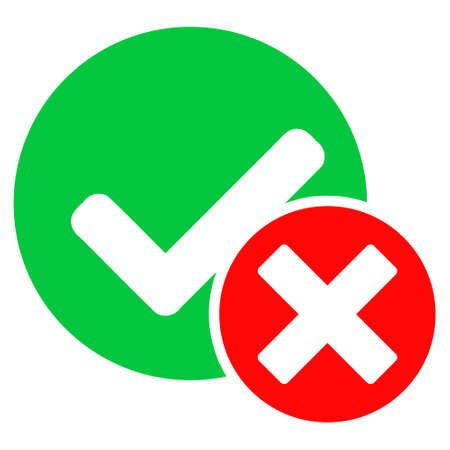 False positive icon with flat style. Isolated vector false positive icon image on a white background. Vector Illustratie