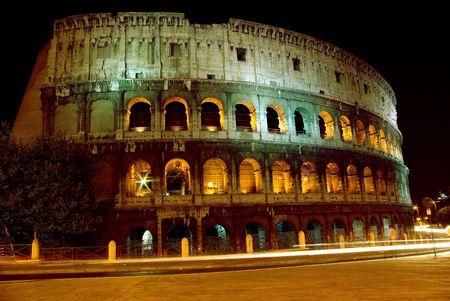 seminal: Colosseum at night, Rome, Italy, 2007