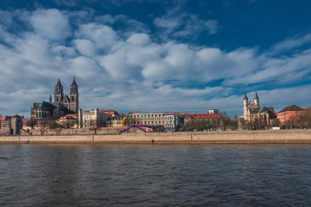 altstadt: Panorama of an old town, Altstadt, of Magdeburg, Germany, 2014
