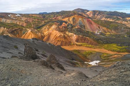 Landmannalaugar colorful  mountains in Iceland, summer time, 2016