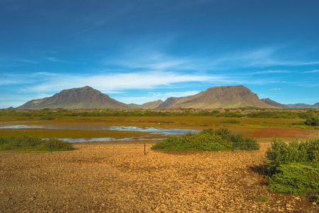 Icelandic colorful landscape on Iceland, summer, 2016
