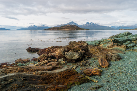Prehistoric landscape in Patagonia, South America, Chile and Argentina Stock Photo