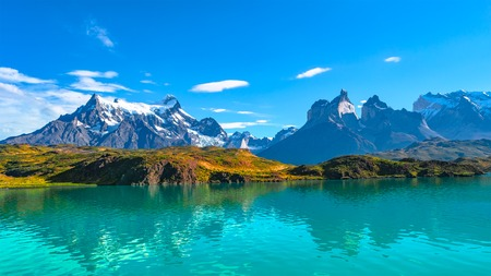 Peaks of Torres del Paine, National Park, Patagonia, Chile Imagens