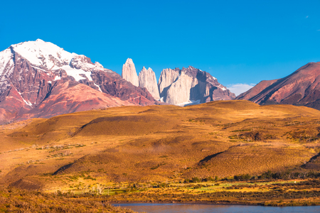 Peaks of Torres del Paine, National Park, Patagonia, Chile Banco de Imagens