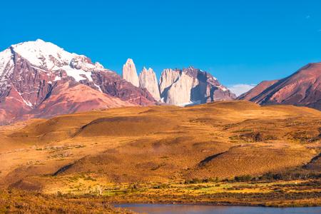 Peaks of Torres del Paine, National Park, Patagonia, Chile Stock fotó