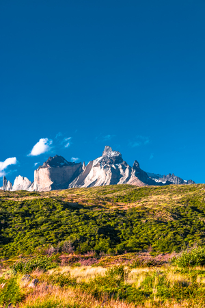 Torres del Paine National Park in Autumn, Patagonia, Chile, 2017 Stock Photo