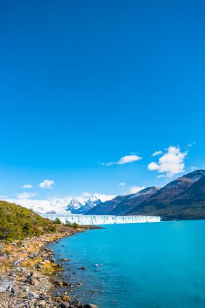 Panorama of glacier Perito Moreno in Patagonia, South America, Autumn