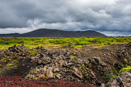 Panoramic view of beautiful Icelandic Landscape, Iceland, summer time