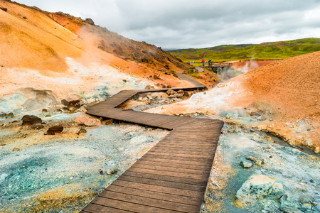 Martial Landscapes - Geothermal active zone on Iceland, summer time