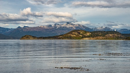 Wonderful panoramic landscape of Tierra del Fuego National Park, Patagonia, Argentina Banque d'images - 119148715