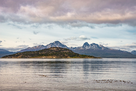 Wonderful panoramic landscape of Tierra del Fuego National Park, Patagonia, Argentina Banque d'images - 119148716