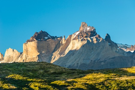 Panoramic view of Torres del Paine, National Park, Patagonia, Chile
