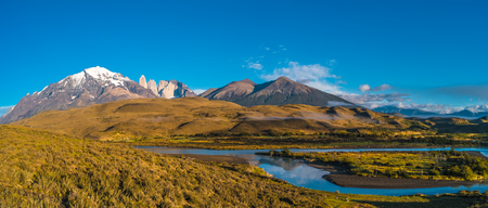Panoramic view of Torres del Paine, National Park, Patagonia, Chile Banque d'images - 119148973