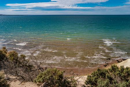Beautiful Atlantic coastline at peninsula Valdes, Patagonia, Argentina, summer time Banque d'images - 119148985