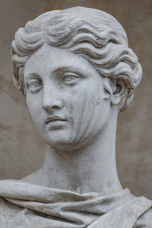 Ancient statue of sensual Italian renaissance era woman, Potsdam, Germany Stok Fotoğraf