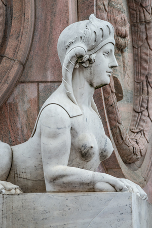 Statue of beautiful sphinx in downtown of Potsdam, Germany Archivio Fotografico