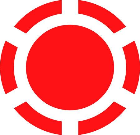 Error icon button on white background Stock Photo