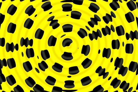 perimeter: Yellow black background