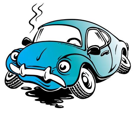 auto accident: Cartoon car Illustration