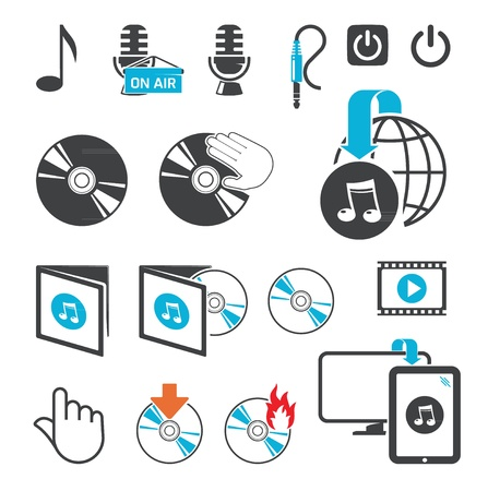 Icons for audio-video files Stock Vector - 12711034