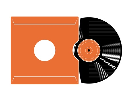 Vinyl recording disc Vector