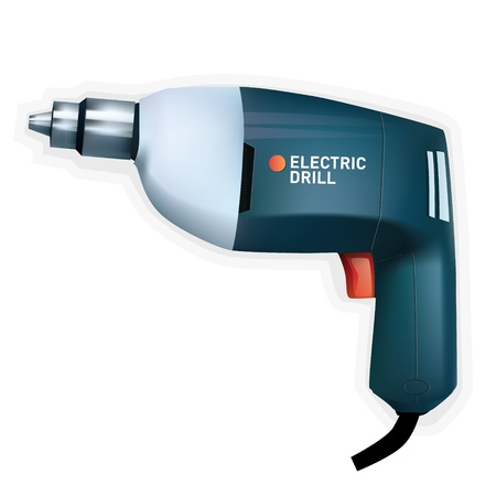 electric drill: Electric drill, vector Illustration