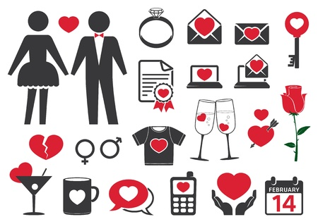 Heart style icons Vector