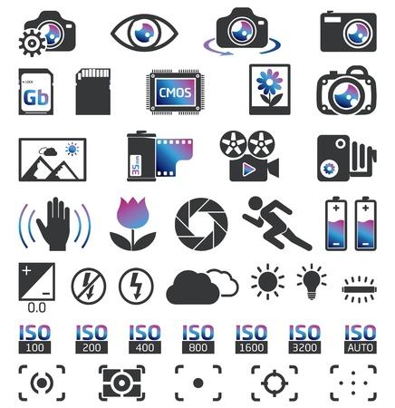 sucher: Kamera Display Screen-Symbole