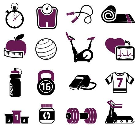 Fitness equipment collection Illustration