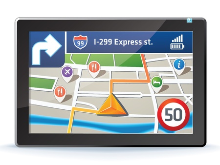 turns: GPS navigation display