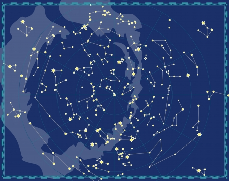 Celestial Map of The Night Sky Stock Vector - 14965684