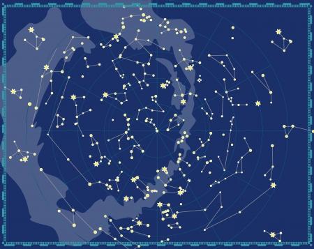 Mapa celeste del cielo nocturno Foto de archivo - 14965684