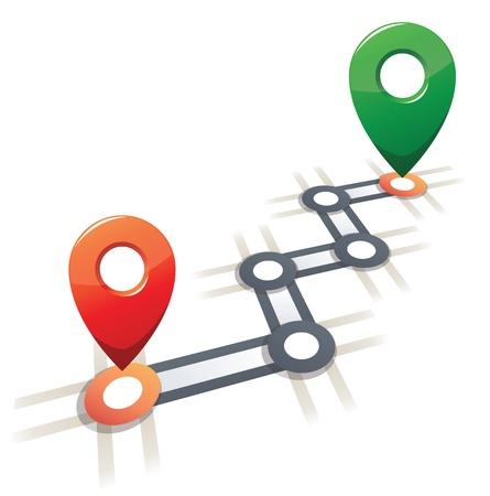 lineal: Concepción abstracta de movimiento, red y comunicación Vectores