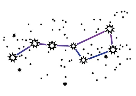 Simple drawing of constellation  Vector