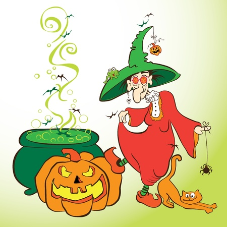 Cute old witch Stock Vector - 15928336