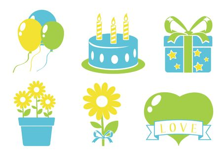 Birthday icons set Stock Vector - 17123757