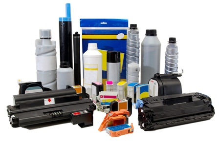 Spare parts, ink and cartridges for printers, scanners Stock Photo - 17469066