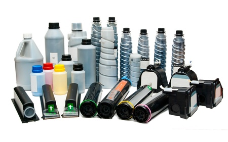 inkjet: Spare parts, ink, toners and cartridges for printers, scanners Stock Photo