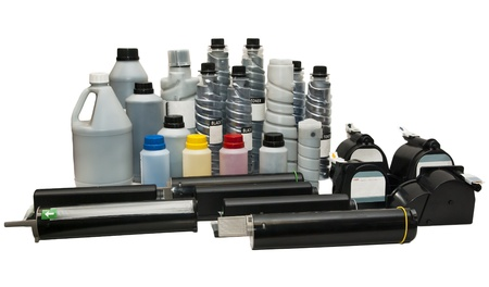 Ink and cartridges for printers, scanners Stock Photo