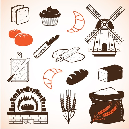 Bread and pastry set Stock Vector - 17571318