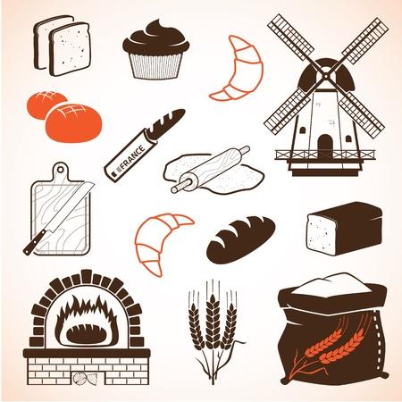 produits céréaliers: Pain et pâtisserie ensemble