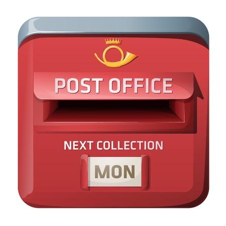 ios: Vecteur bo�te aux lettres. conception de style iOS.