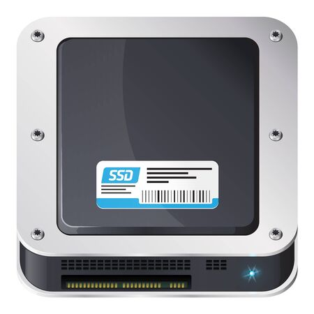 Solid-state drive, iOS style icon Stock Vector - 17782584