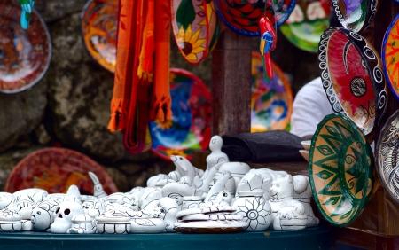 Mexican craft souvenirs market Stock Photo